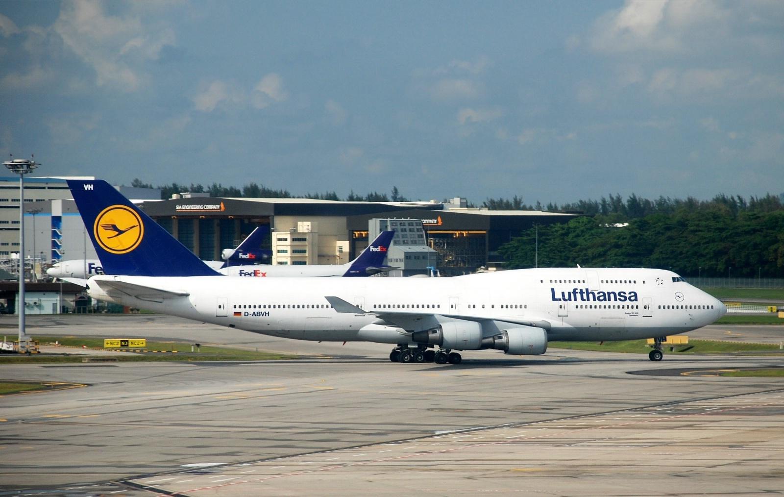 En af Lufthansas ældre Boeing 747-400.