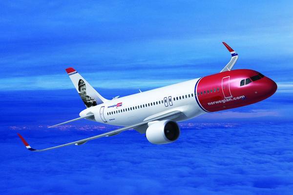 Norwegian Airbus A320-200neo. (Foto: Airbus | PR)