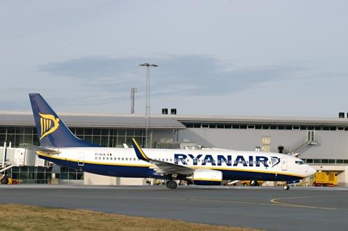 Ryanair Boeing 737-800 i Billund Lufthavn (Foto: BLL)
