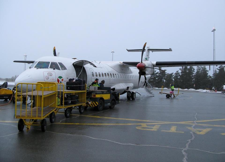 ATR72-200 fly fra Danish Air Transport i Karup Lufthavn.