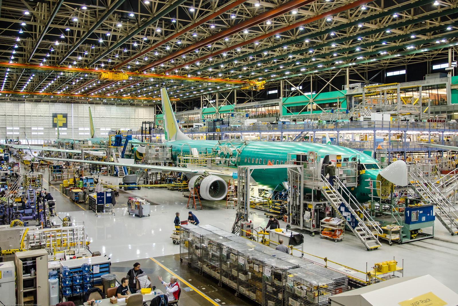 Boeing Rention Factory, hvor 737 produceres. (Arkivfoto: Morten Lund Tiirikainen)