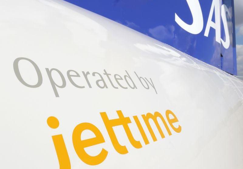 Jet Time opererer i dag fire ATR72-fly for SAS. Foto: Andreas Krog.