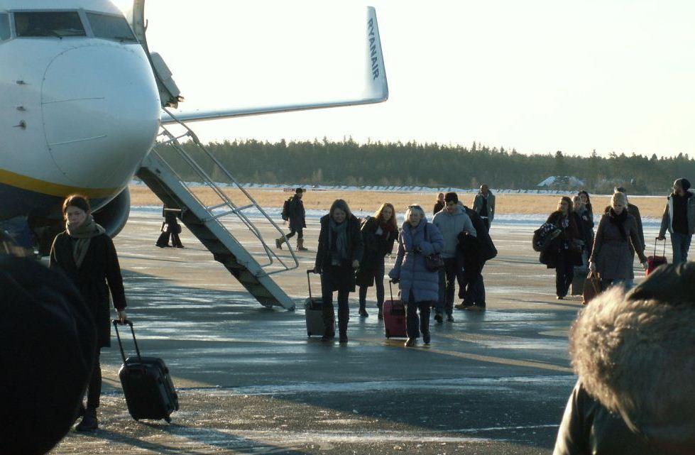 Ryanair-fly i Aarhus Lufthavn.