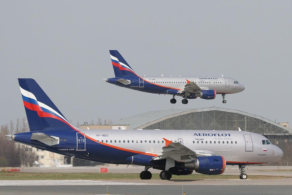 Airbus A319 fra Aeroflot.