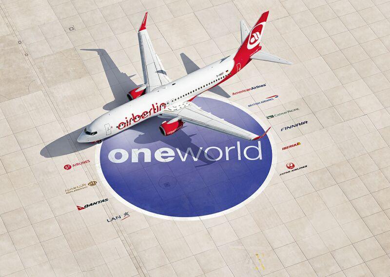 Airberlin er medlem af Oneworld-alliancen.