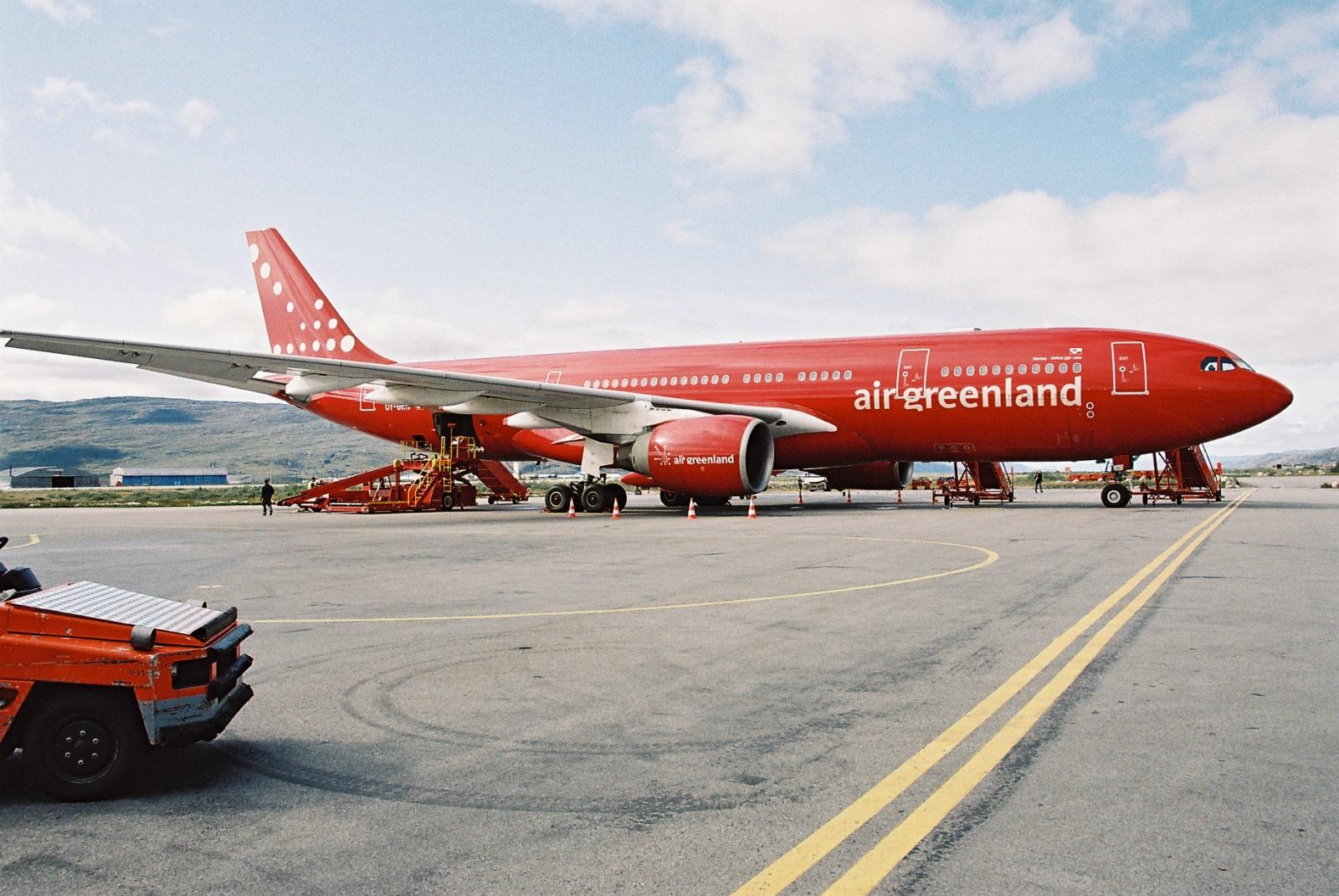 Airbus A330-200 fra Air Greenland i Kangerlussuaq Lufthavn.