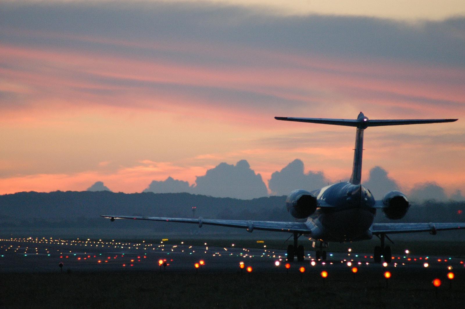 KLM-fly i Billund Lufthavn. (Arkivfoto: Billund Lufthavn)