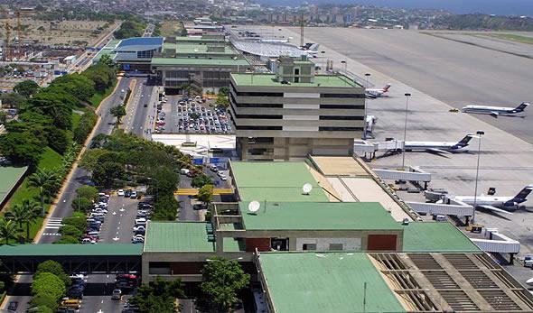 Den internationale Simon Bolivar-lufthavn i Caracas.