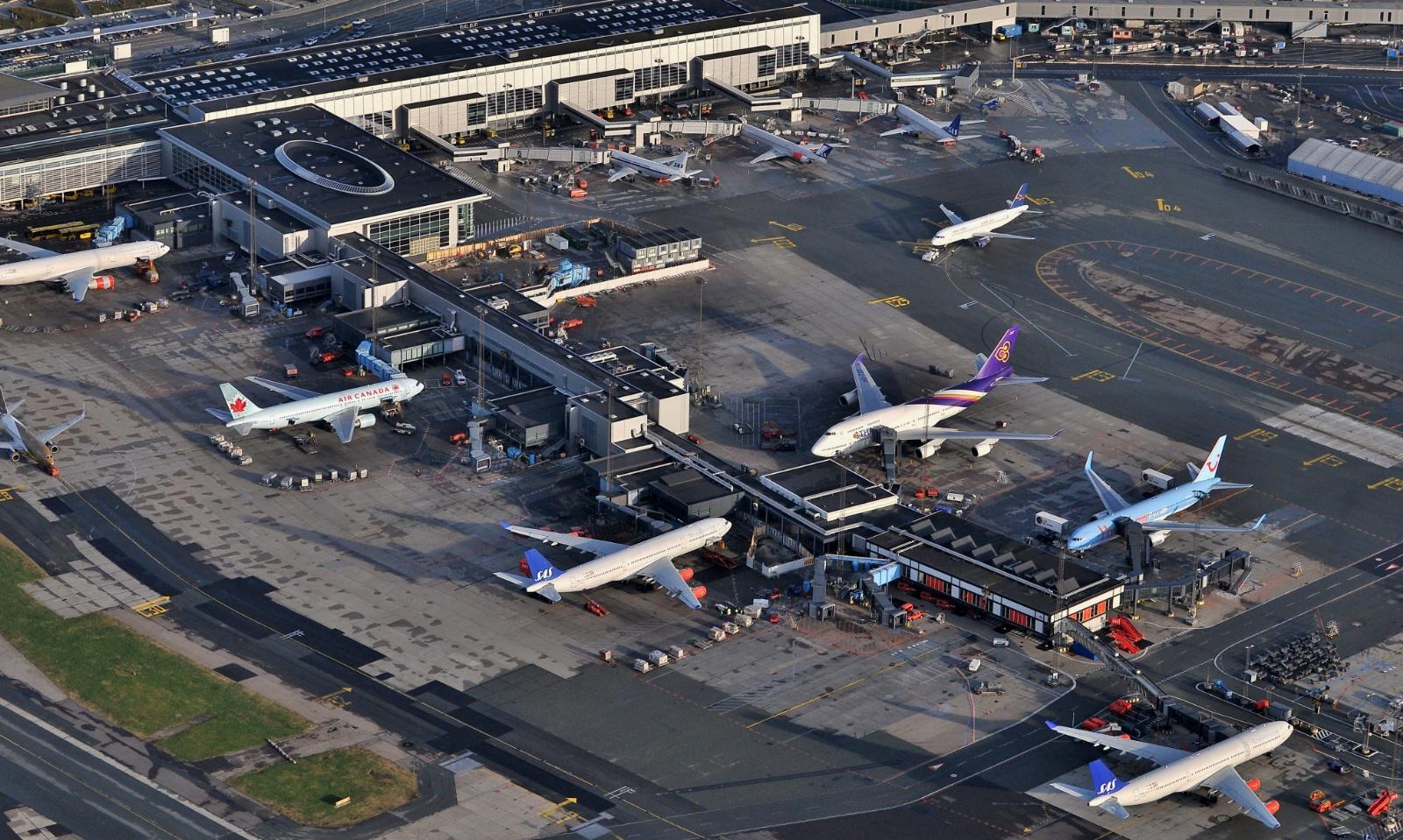 Finger C i Københavns Lufthavn. (Foto: Dragør Luftfoto)