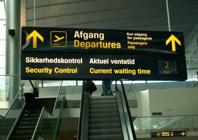 Sikkerhedskontrol i Københavns Lufthavn. (Foto: CPH)