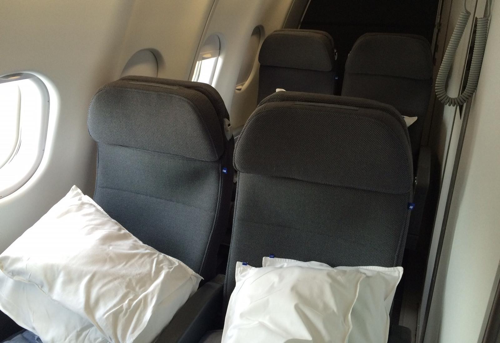 Sæder i separat hvilemodul på ny A330-300E fly. (Foto: Ole Kirchert Christensen)