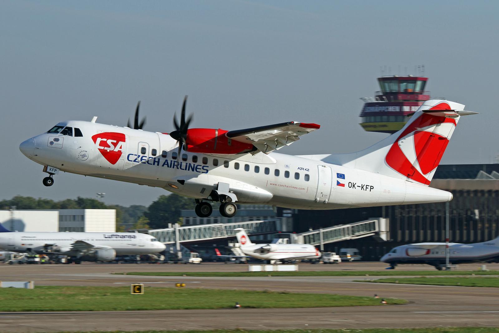 ATR42-400 fra CSA Czech Airlines.