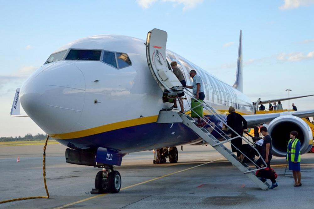 Boeing 737-800 fra Ryanair i Billund Lufthavn. (Foto: Morten Lund Tiirikainen)