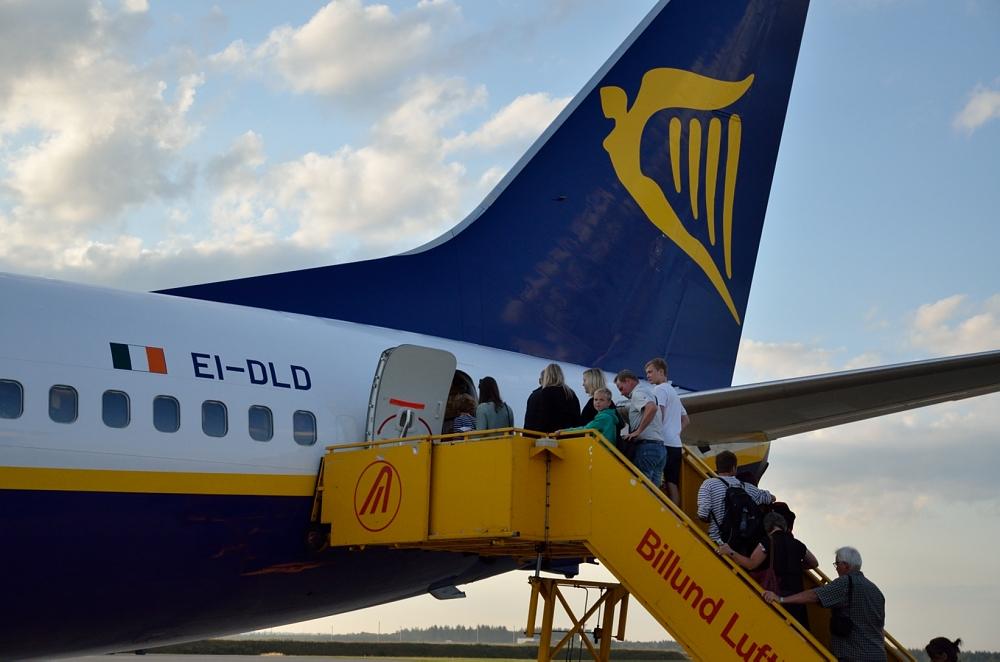 Ryanair-fly i Billund Lufthavn (Foto: Morten Lund Tiirikainen)