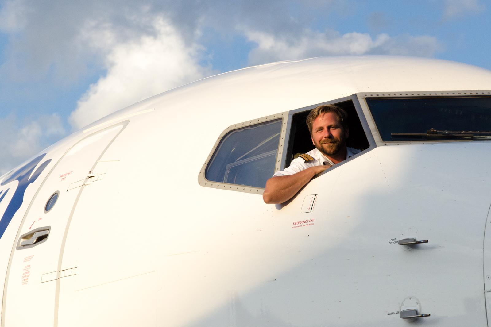 Pilot på Ryanair-fly i Billund Lufthavn. (Arkivfoto: Morten Lund Tiirikainen)