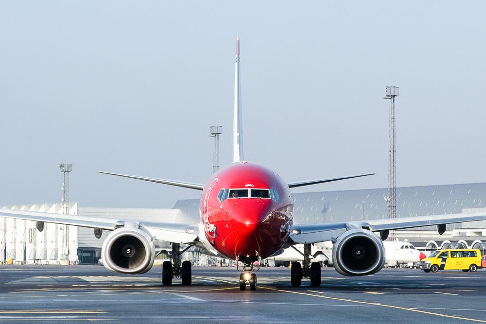 Norwegian Boeing 737-800 i Københavns Lufthavn (Foto: Morten Lund Tiirikainen)