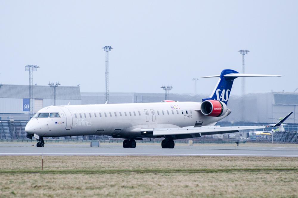 SAS CRJ900-fly i Københavns Lufthavn (Foto: Morten Lund Tiirikainen)