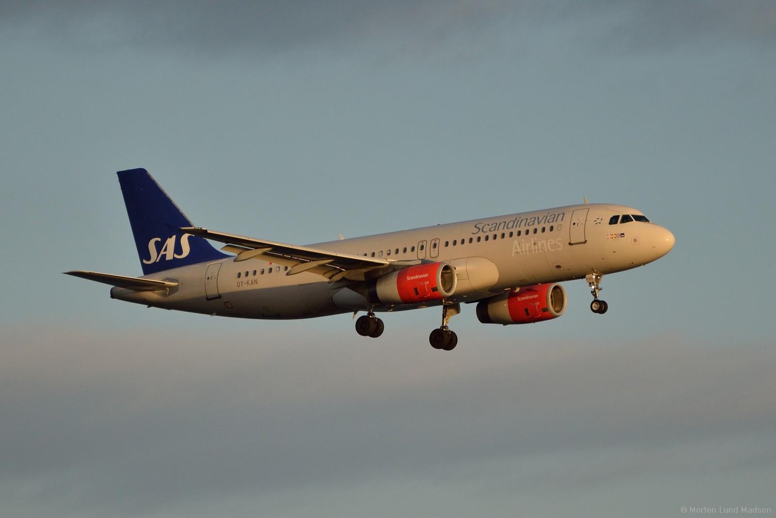 SAS Airbus A320-200.  (Foto: Morten Lund Tiirikainen)