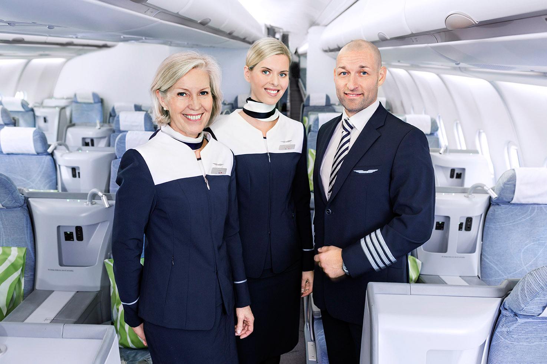 Kabinepersonale hos Finnair (Arkivfoto – Finnair/PR)