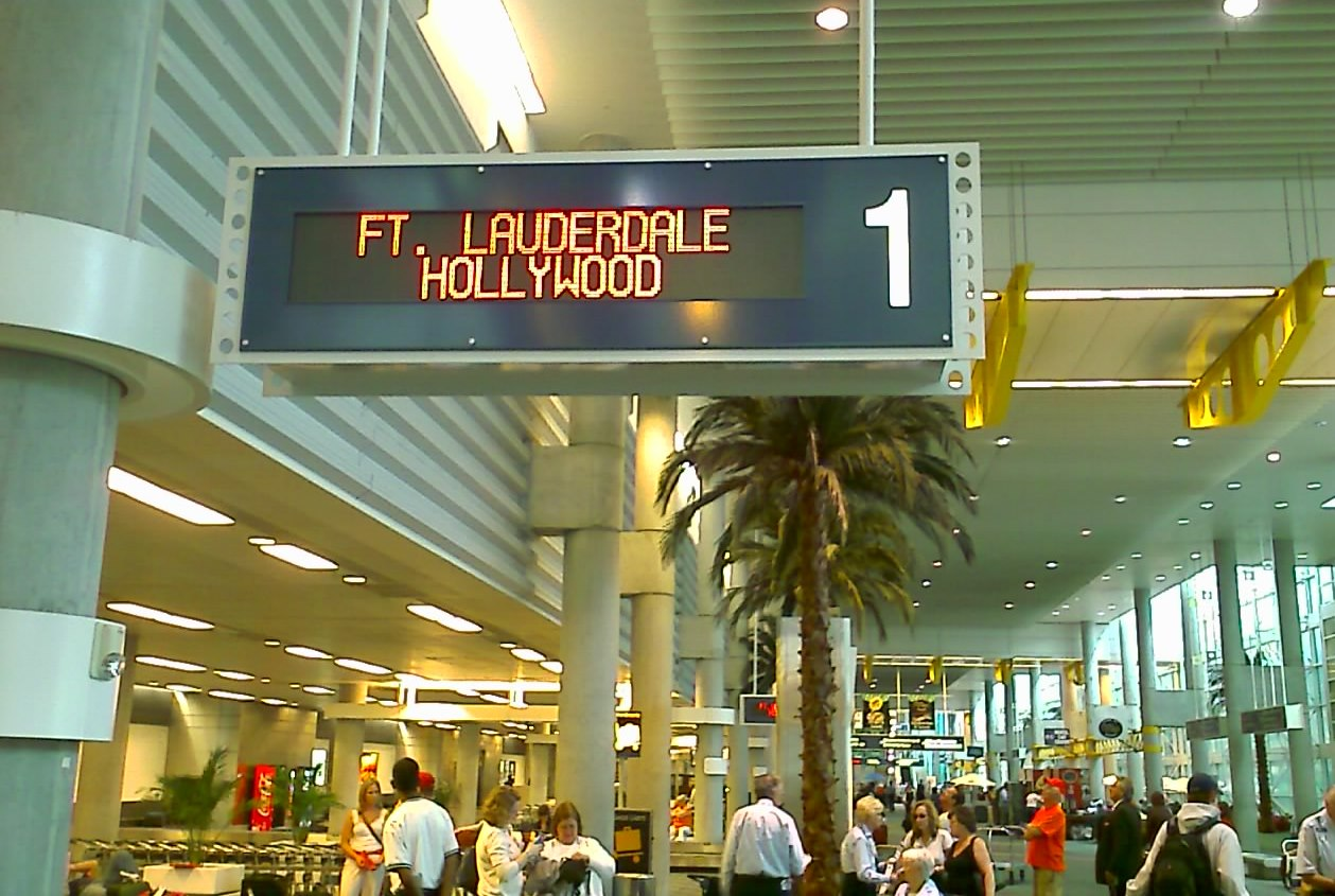 Fort Lauderdale-Hollywood International Airport.