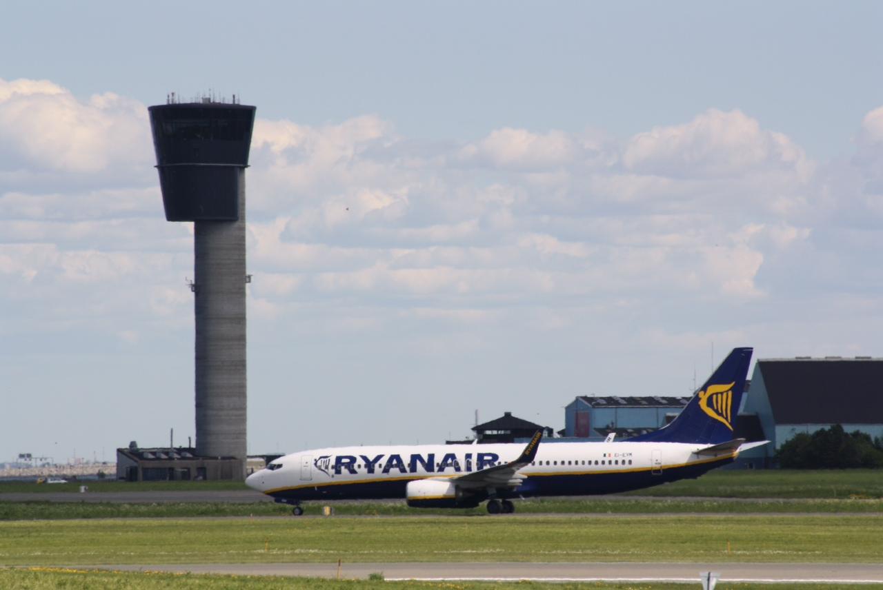 Ryanair Boeing 737-800 i Københavns Lufthavn. (Foto: Andreas Krog)