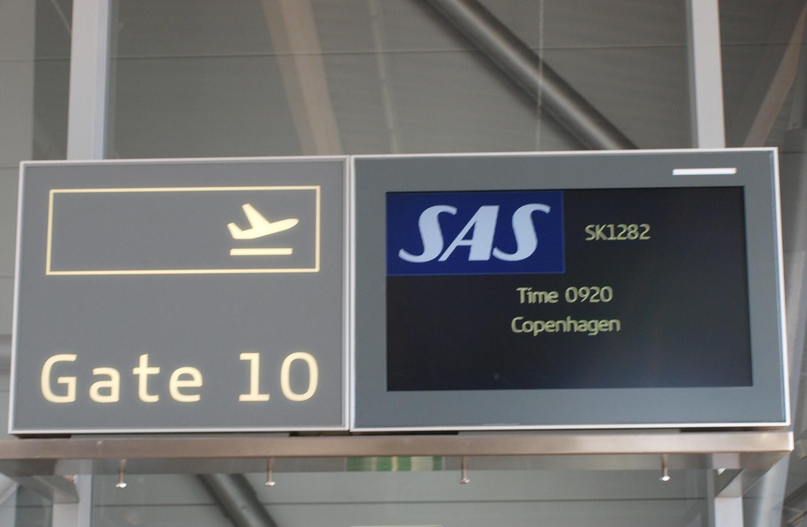 Udkald til SAS-fly på indenrigsruten mellem Billund og København. (Foto: Ole Kirchert Christensen)