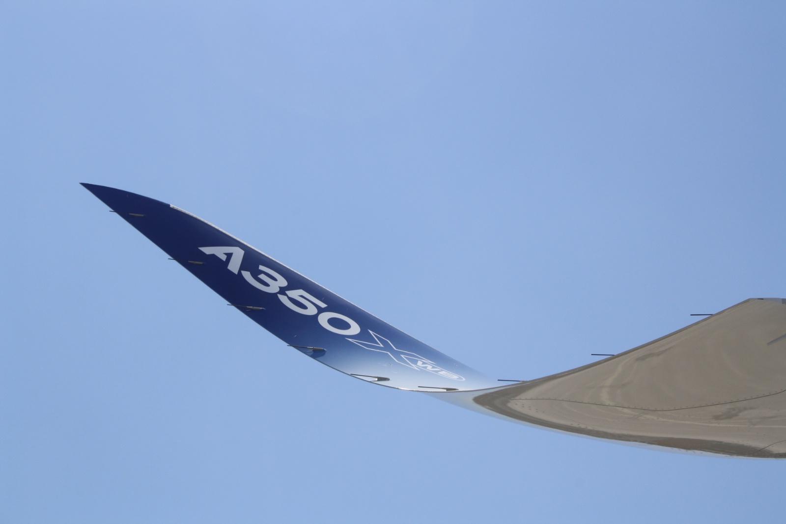 Vingespids på A350-900 XWB (Foto: Andreas Krog)