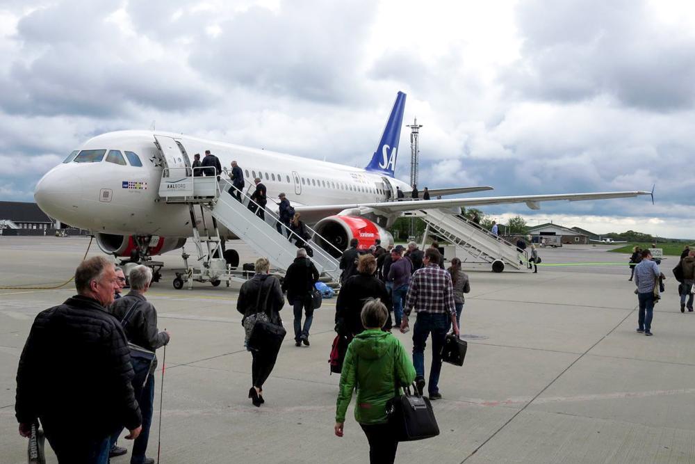 SAS-fly i Aalborg Lufthavn (Foto: Morten Lund Tiirikainen)