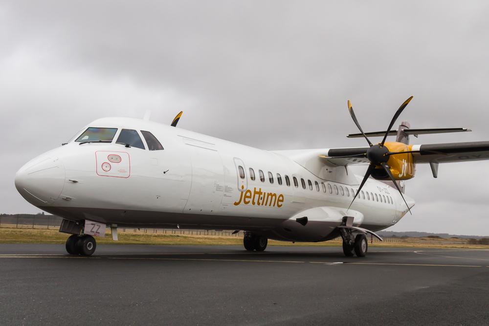 Jet Time ATR72-500. (Foto: Morten Lund Tiirikainen)
