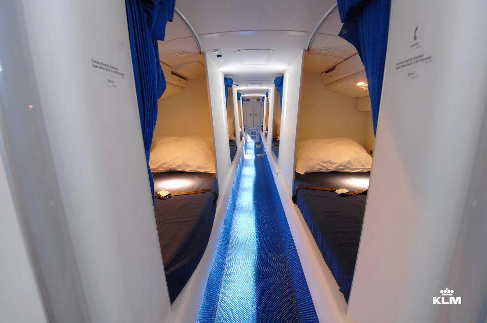 Air Frances topchef sammenligner de nye køjer med de hvilerum til kabinepersonalet, som findes på mange langdistancefly. Foto: KLM.