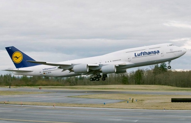 Lufthansa Boeing 747-8I.