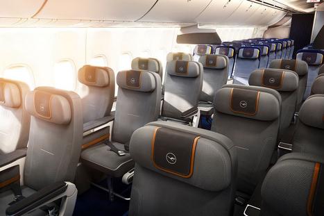 Kabineklassen Premium Economy fra Lufthansa. Foto: Lufthansa