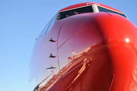Boeing 737-800 fra Norwegian.