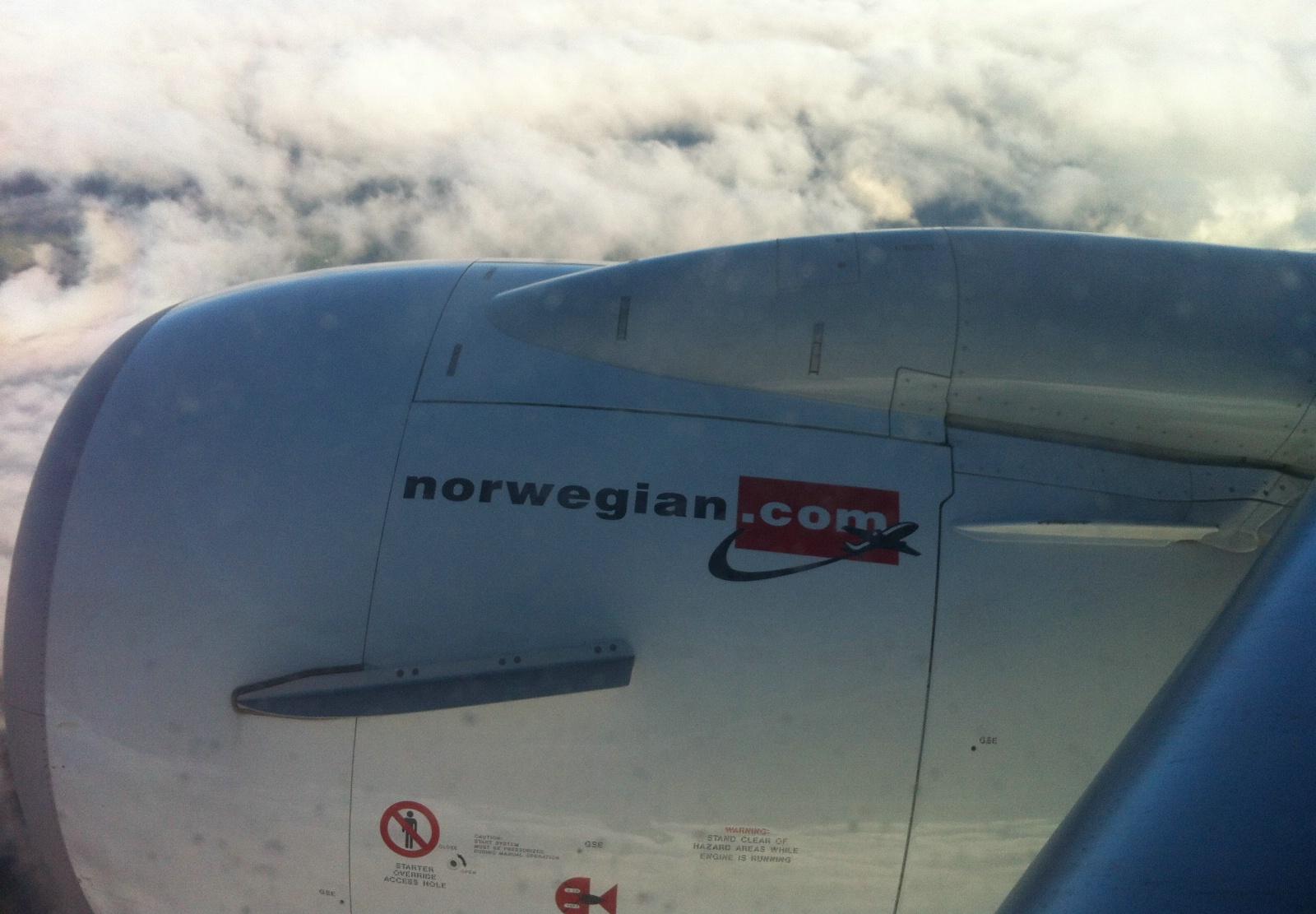 Norwegian Boeing 737-800 i luften. (Foto: Ole Kirchert Christensen)
