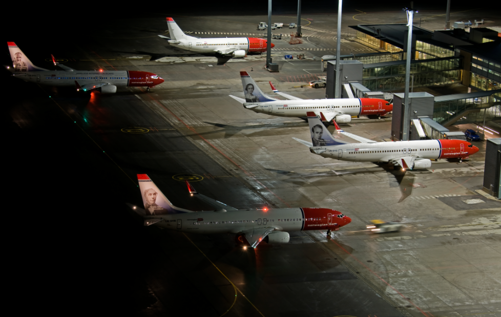 Norwegian-fly i Oslo Lufthavn. (Foto: Tom Guldbrandsen)