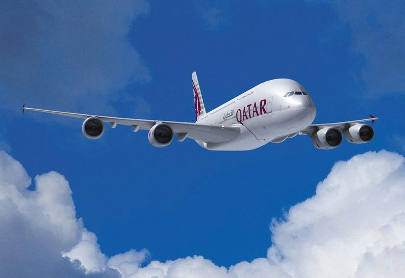 Qatar Airways A380 (Foto: Airbus)
