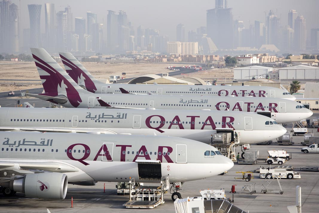 Qatar Airways har base i Hamad International Airport i Doha.