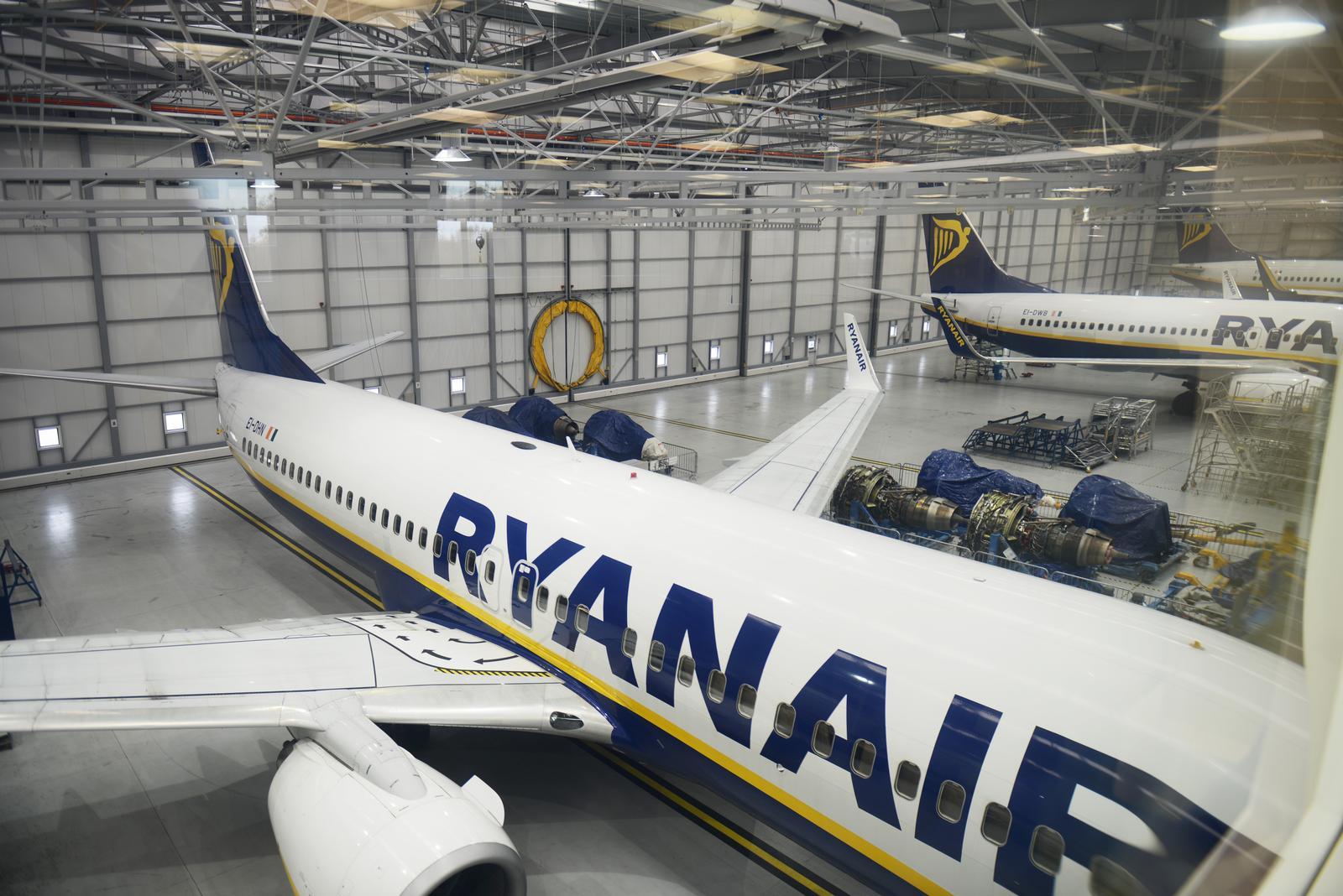 Ryanair-hangar i Dublin Lufthavn (Foto: Joakim J Hvistendahl)