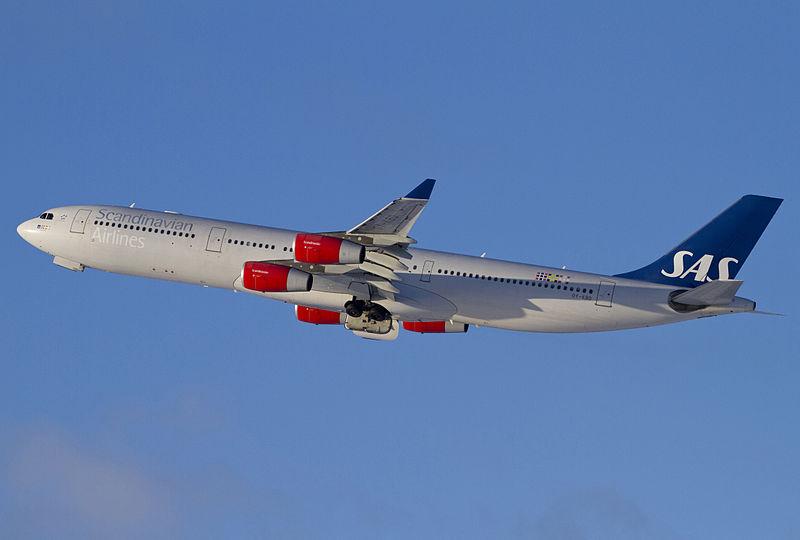 SAS Airbus A340-300.