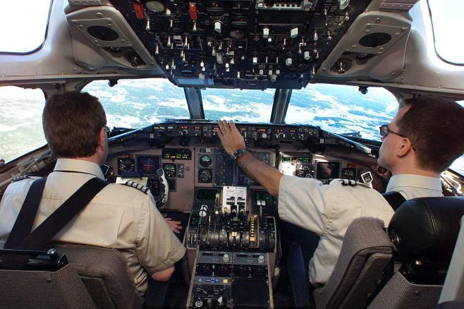 SAS-piloter i cockpittet. (Arkivfoto)