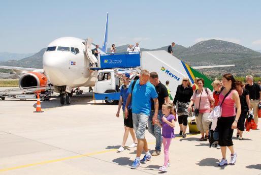 SAS-fly i Gazipasa Lufthavn nær Alanya. (Arkivfoto)