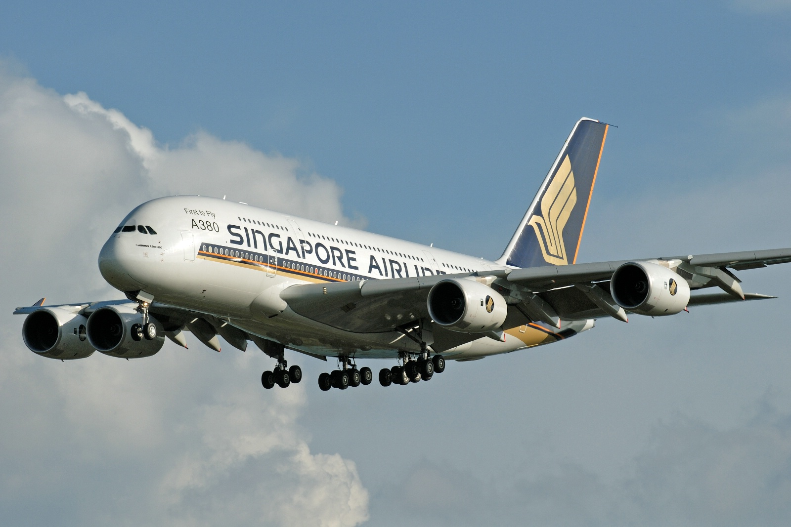 Airbus A380 fra Singapore Airlines.