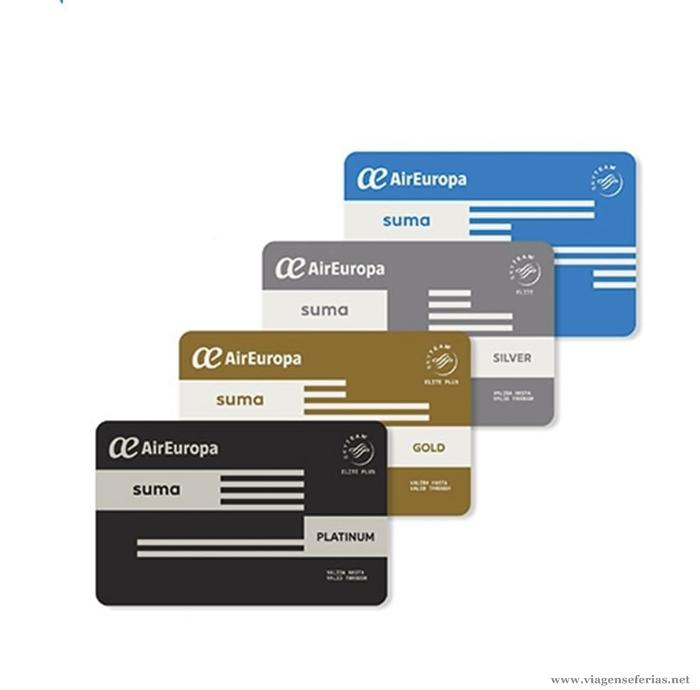 Air Europas bonusprogram SUMA består af fire niveauer.