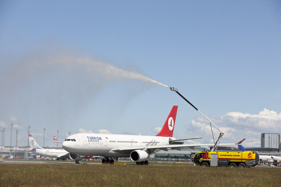 I juni 2014 indsatte Turkish Airlines Airbus A330-langdistancefly på ruten mellem Istanbul Atatürk og København. ( Foto: Københavns Lufthavn)