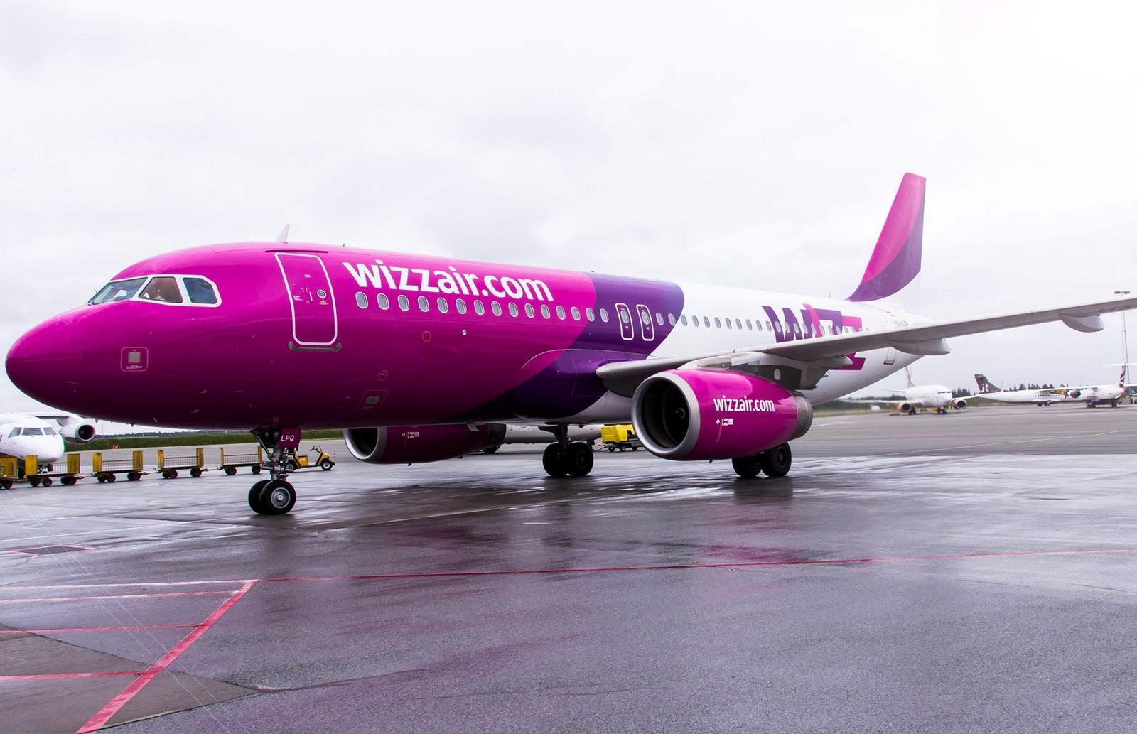 Wizz Air Airbus A320 i Billund Lufthavn (Foto: BLL)