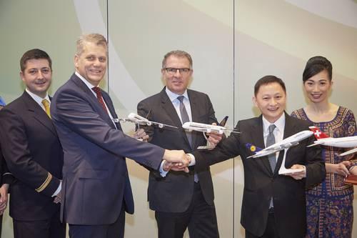 Jpint-venture aftalen mellem Lufthansa og Singapore Airlines blev underskrevet den 11. november 2015.
