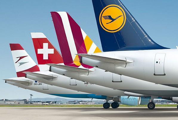 Lufthansa-gruppens flyselskaber.