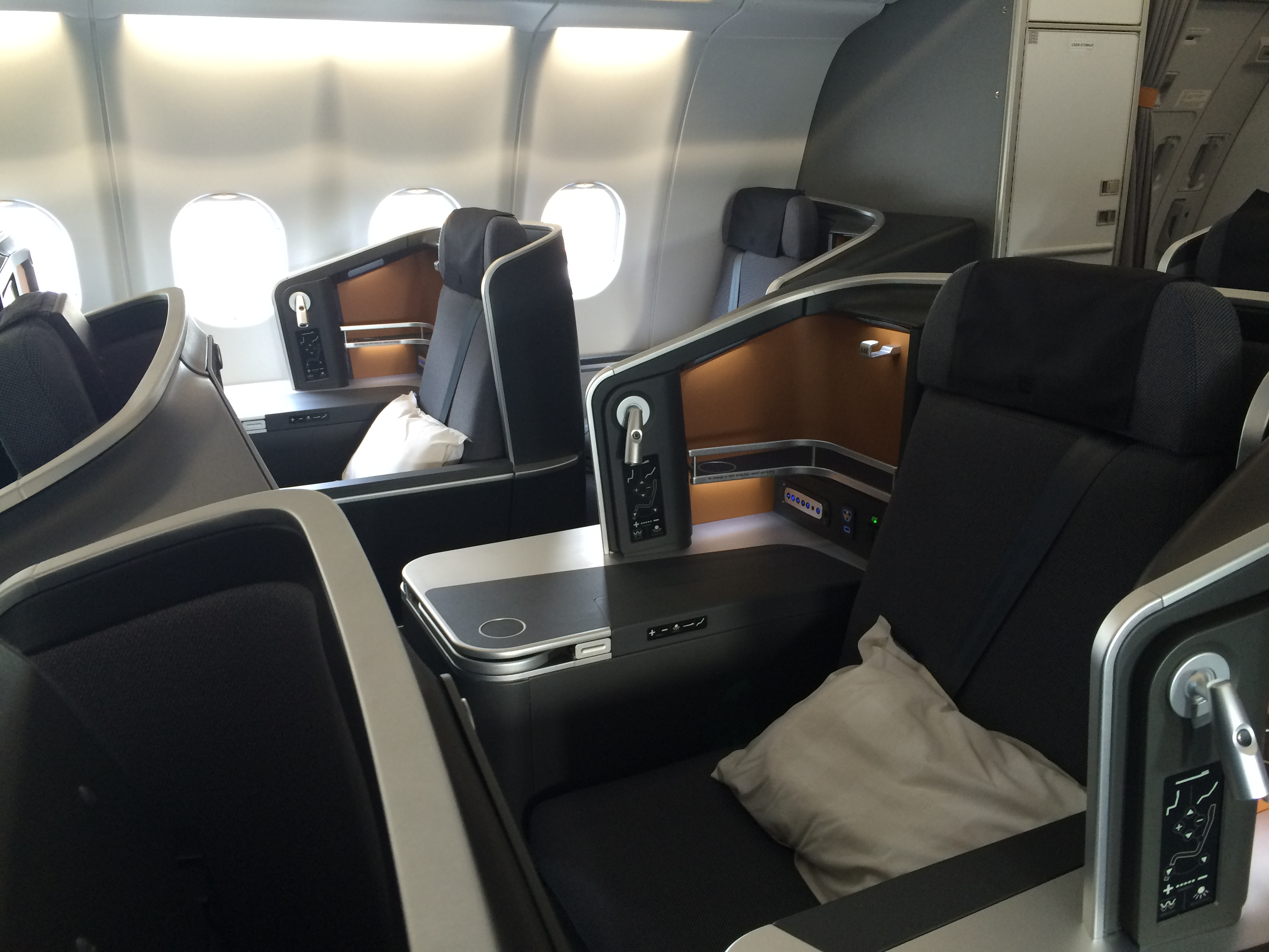 SAS Business Class-kabine i de nye A330-fly ( Foto: Ole Kirchert Christensen)