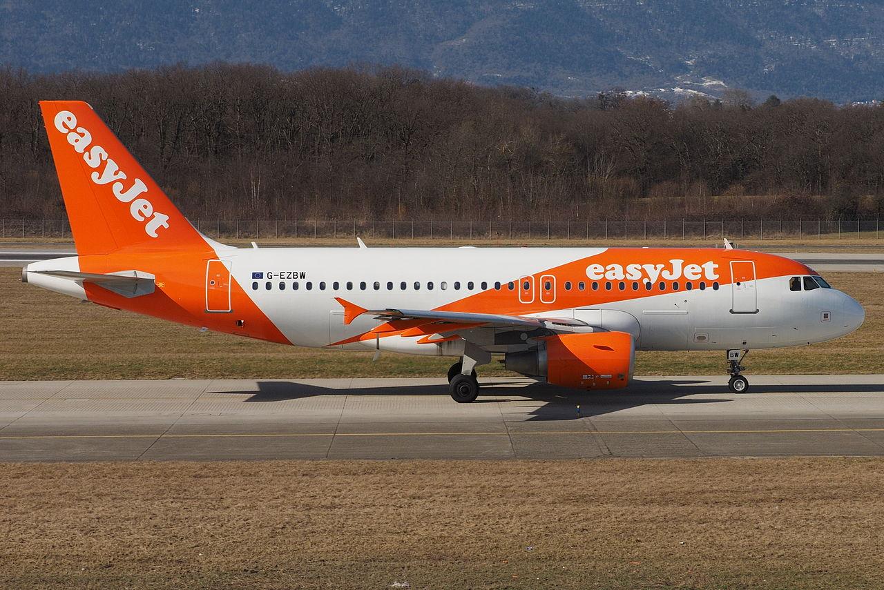 Airbus A319-100 fra easyjet. (Foto: Markus Eigenheer)