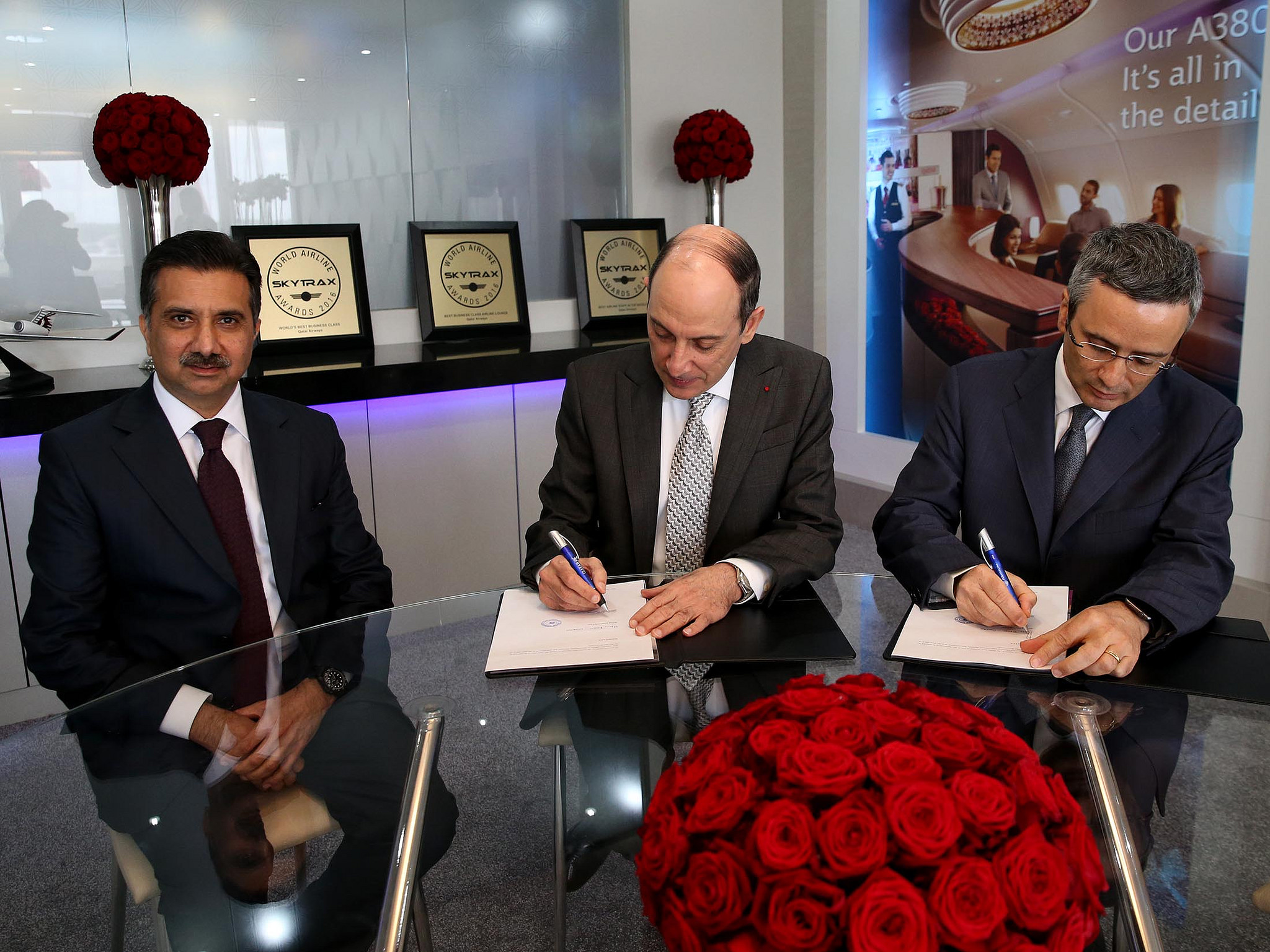 Qatar Airways underskriver aftale med Meridiana (Foto: Qatar Airways)
